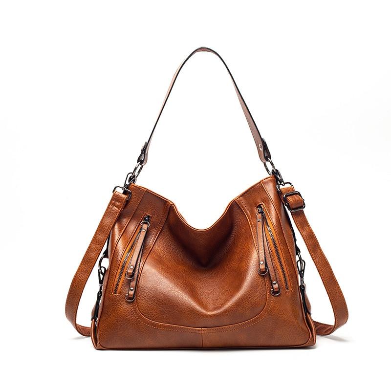 YOUSE Womens Bag Handbags Women Fashion Tote Bags High Quality PU Leather Shoulder Ladies Zipper Messenger
