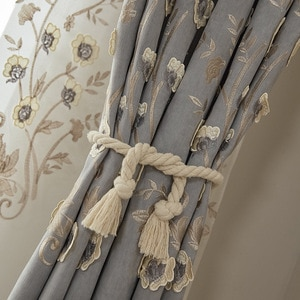 Modern Simple Embroidery High Shading French Window Curtains For Living Dining Room Luxury Curtains For Bedroom
