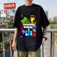 cowboy bebop gta v mosaic 100 cotton t shirt tops kawaii anime tshirt unisex t shirt oversized clothes femaleman t shirts