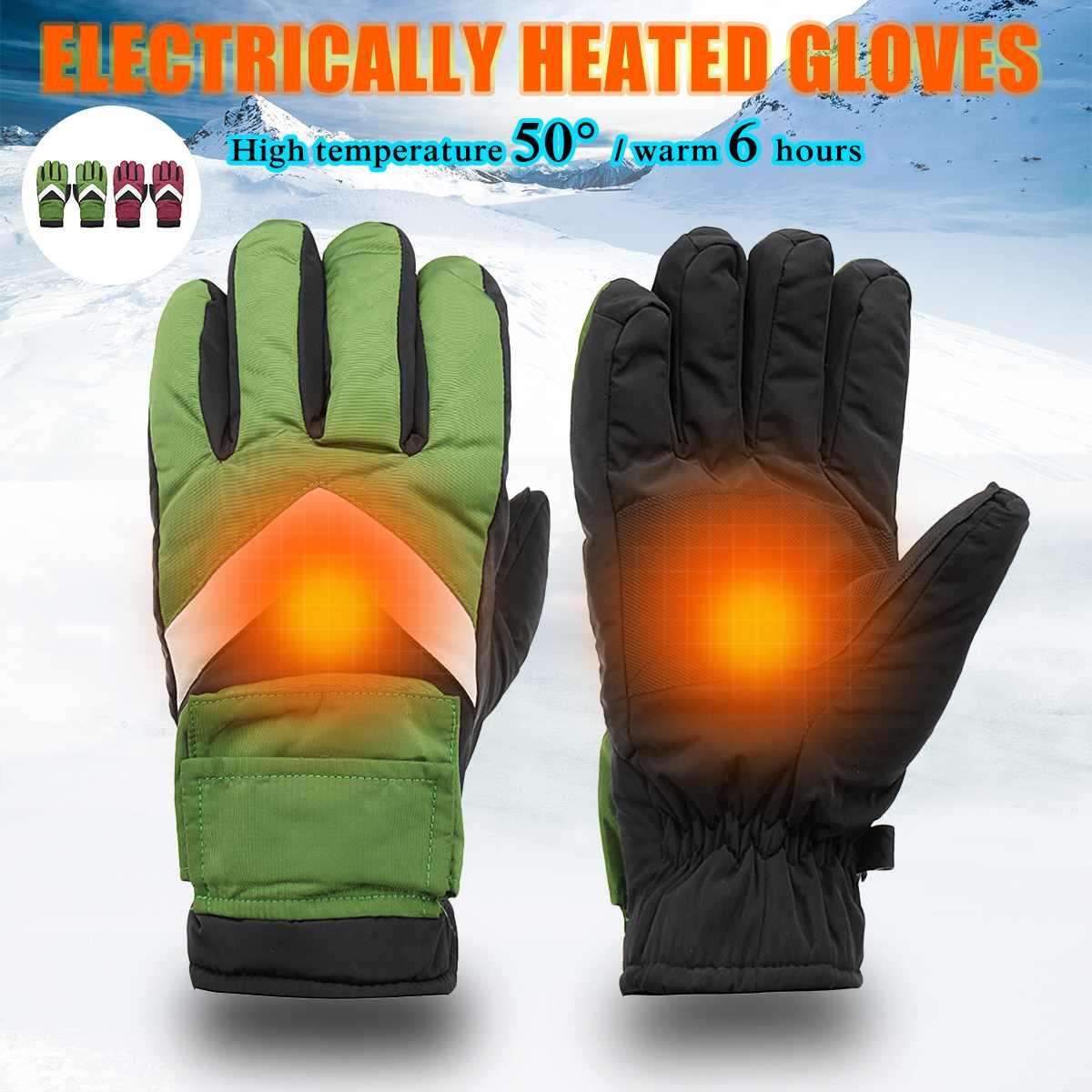 Mofaner luvas da motocicleta inverno aquecido luvas 7.4v 2800mah bateria recarregável para ao ar livre motocycle luvas de proteção
