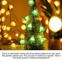 3 pcs christmas lamp string xmas hanging lights decor home lamp 50 lamp beads