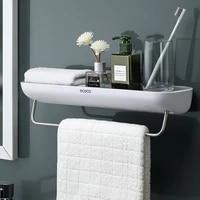 2pcsset bathroom storage rack shower shampoo shelf organizer box bathroom accessories shelves for wall floating corner shelf
