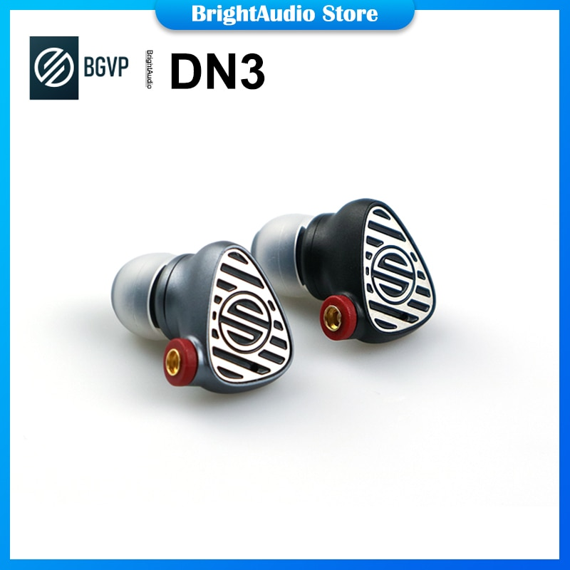 BGVP DN3 1DD + 1BA الهجين السائقين HIFI في الأذن سماعة IEM Eerbuds مع MMCX انفصال كابل MIC التحكم سماعة