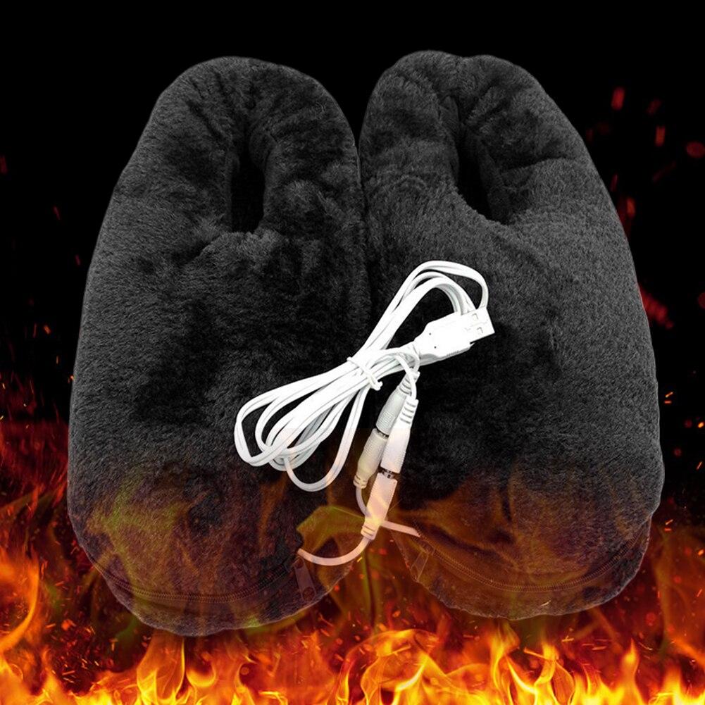 Sapatos de Aquecimento Prático Casa Elétrico Aquecido Chinelo Usb Macio Portátil Inverno Pés Mais Quente Almofada Confiável Presente Alívio Frio