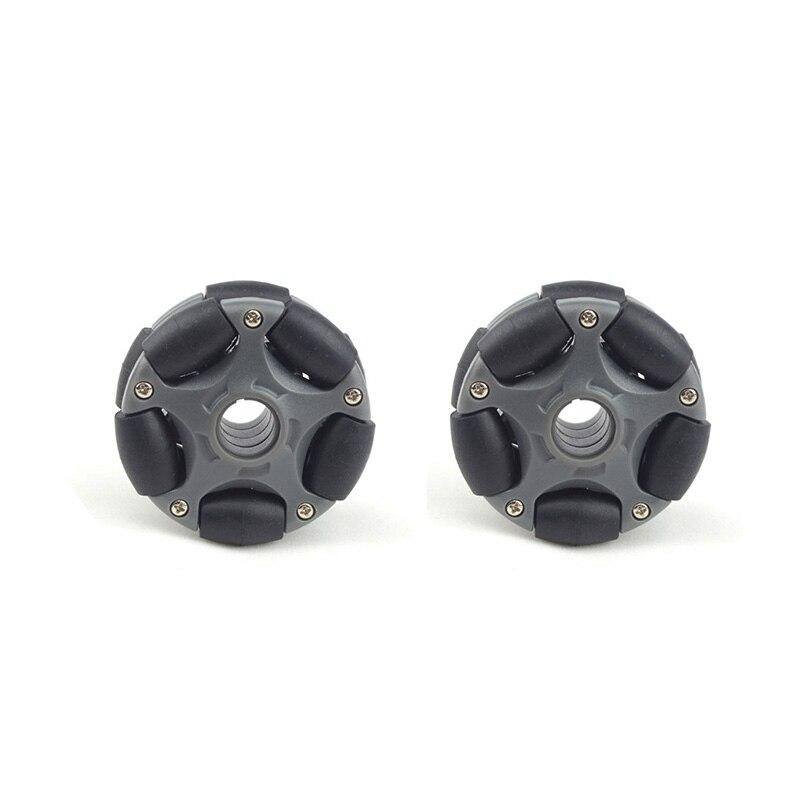 2Pcs 58mm Plastic Omni Wheel for Robot Kit Servo Motor Omni Wheel 14135