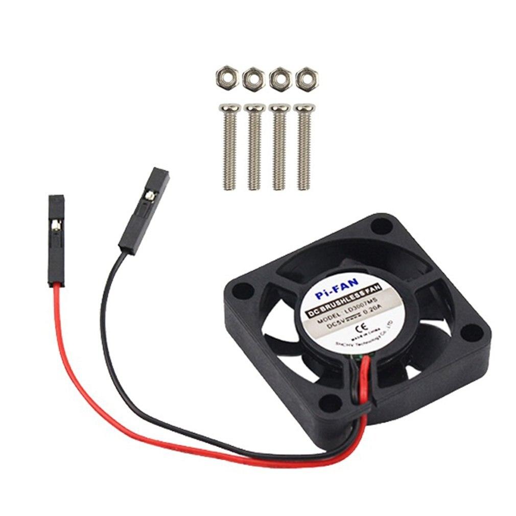 Framboesa pi cpu ventilador ajustável para raspberry pi 4 b/3b +/3b/2b/b + cpu ventilador de refrigeração ajustável 5v 3.3v