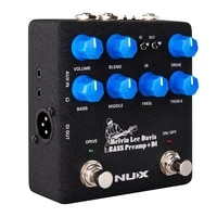 nux mld signature bass preamp di guitar pedal dual switch 3 band eq speaker cabinet noise reduction 2 in 1 effect guitar parts