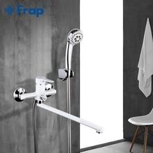 Frap robinet de baignoire-douche blanc   Blanc, tuyau de sortie, surface corps en laiton, peinture par pulvérisation pomme douche, robinet de salle de bains F2241/2242/2243 1 ensemble