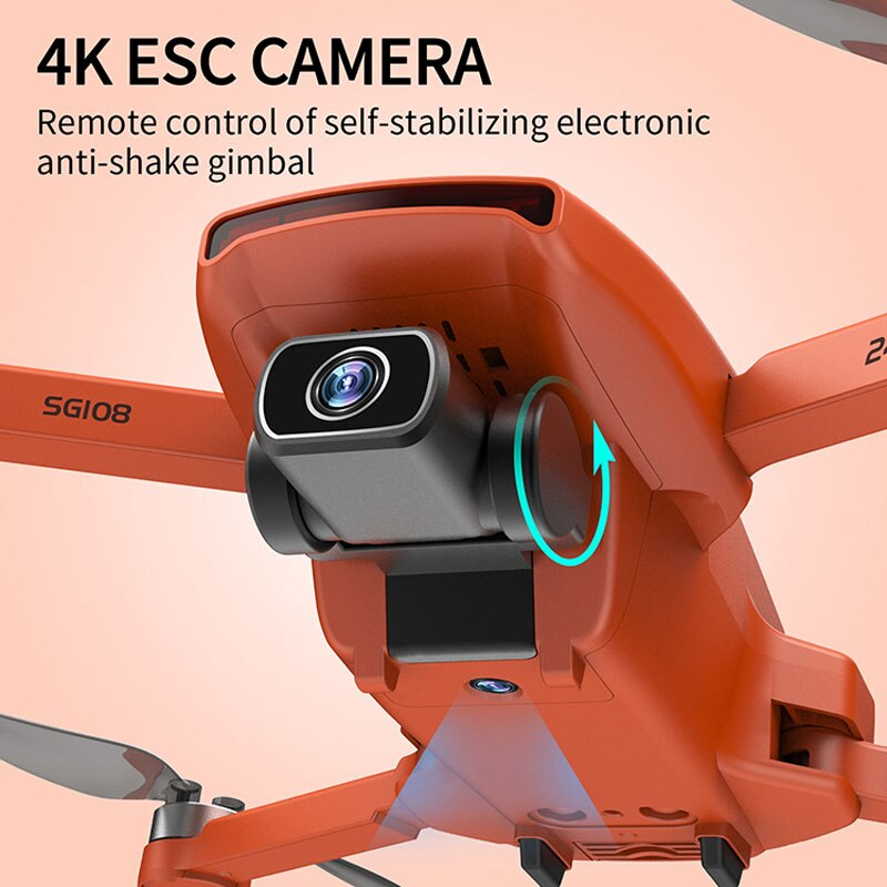 SG108 New 5G WIFI GPS Drone With 4K Professional Dual Camera Brushless Motor RC Quadcopter 4K Professional Mini Dron  PK S3 L108 enlarge