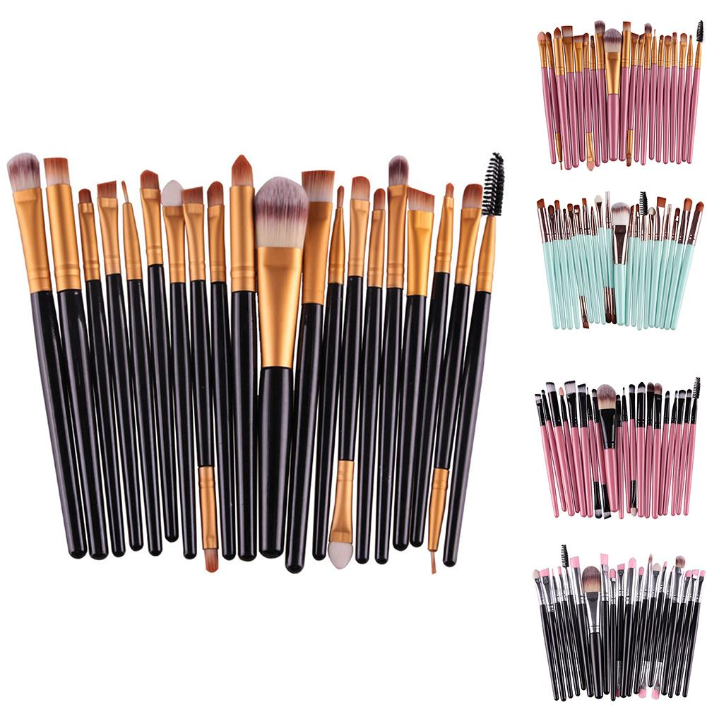 20Pcs Makeup Brushes Tool Set Cosmetic Powder Eye Shadow Foundation Blush Blending Beauty Make Up Brush Maquiagem