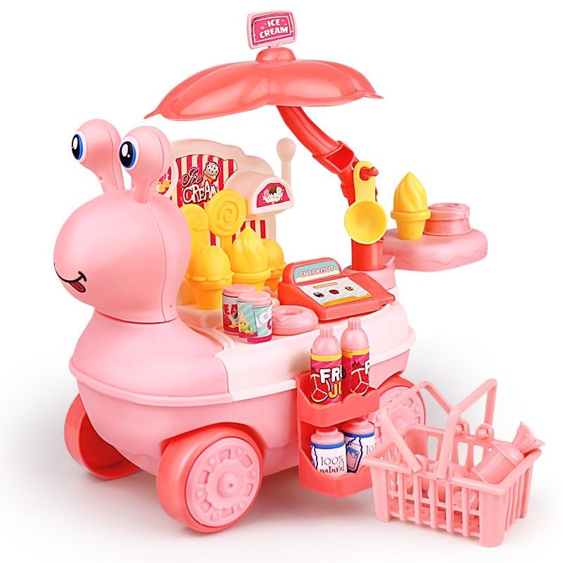 Детские игрушки для ролевых игр, мини-игрушки для кухни, мороженое, игрушки для девочек, Игрушки для раннего развития, рождественский подаро...