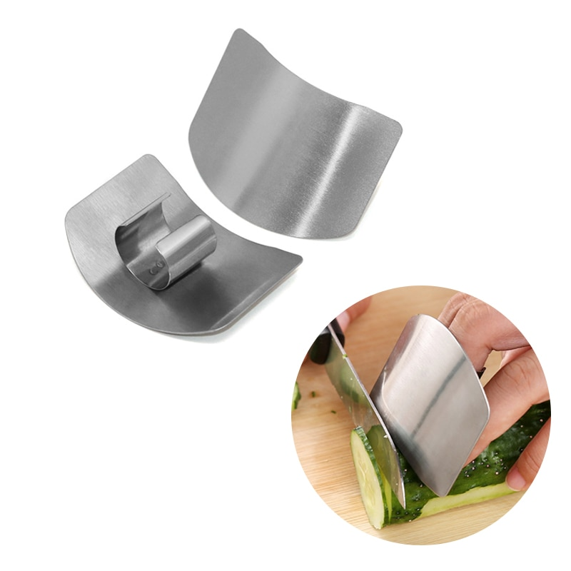 New 1/2 Fingers Guard Protect Stainless Steel Hand Protector Vegetable Cutting Knife Cut Finger Prot