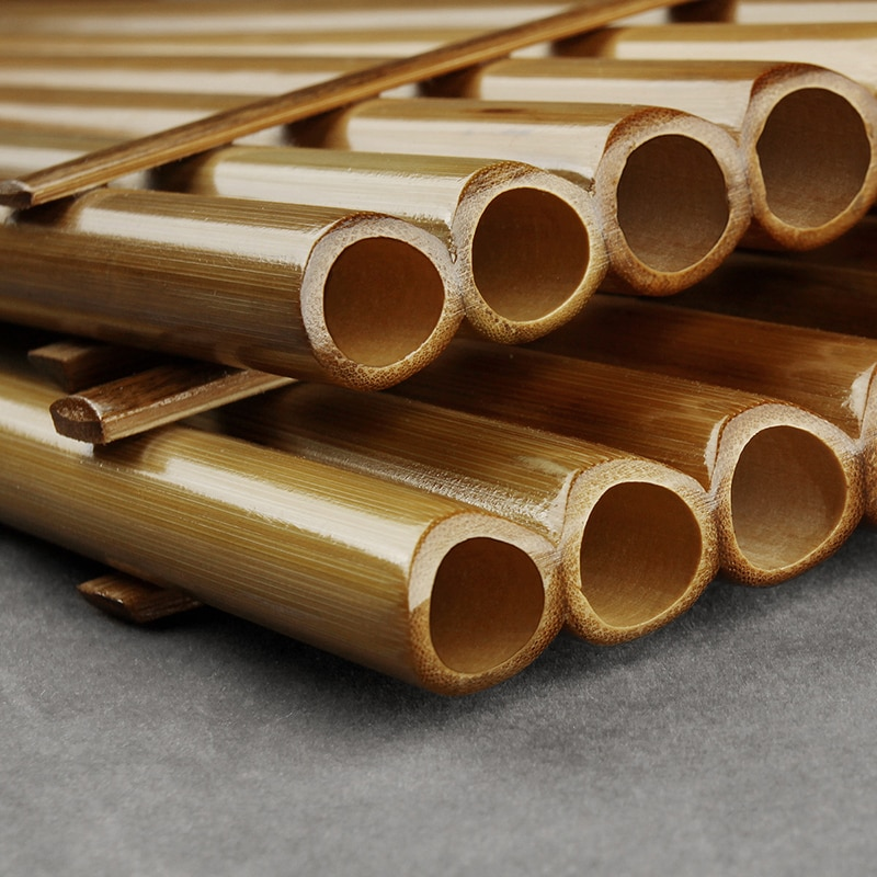 13 Pipes Southern Amercian Pan Flute G Key  Folk Musical Instruments Original Colour Flute De Pan Woodwind Instrument  Pan Pipes enlarge