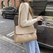 Female Shoulder Bag Partition Layer PU Soft Leather Large Capacity Handbag Wholesale Commuting Style