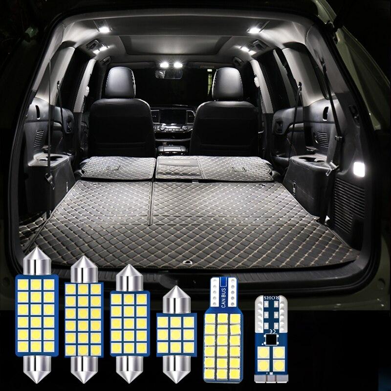 Para Volvo S80 2009, 2010, 2011, 2012, 2013 6 uds Error libre 12V bombilla LED para automóvil Kit de coche luz Interior lámparas de lectura de cúpula Accesorios