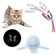 Electronic Pet Cat Toy Smart Automatic Funny Cat Exercise Toy Electric Rotating Kitten Toys Butterfl
