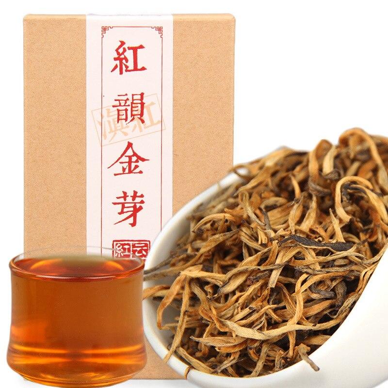 China cha dianhong ouro bud vermelho rima jin ya preto chá natural 70 g/caixa