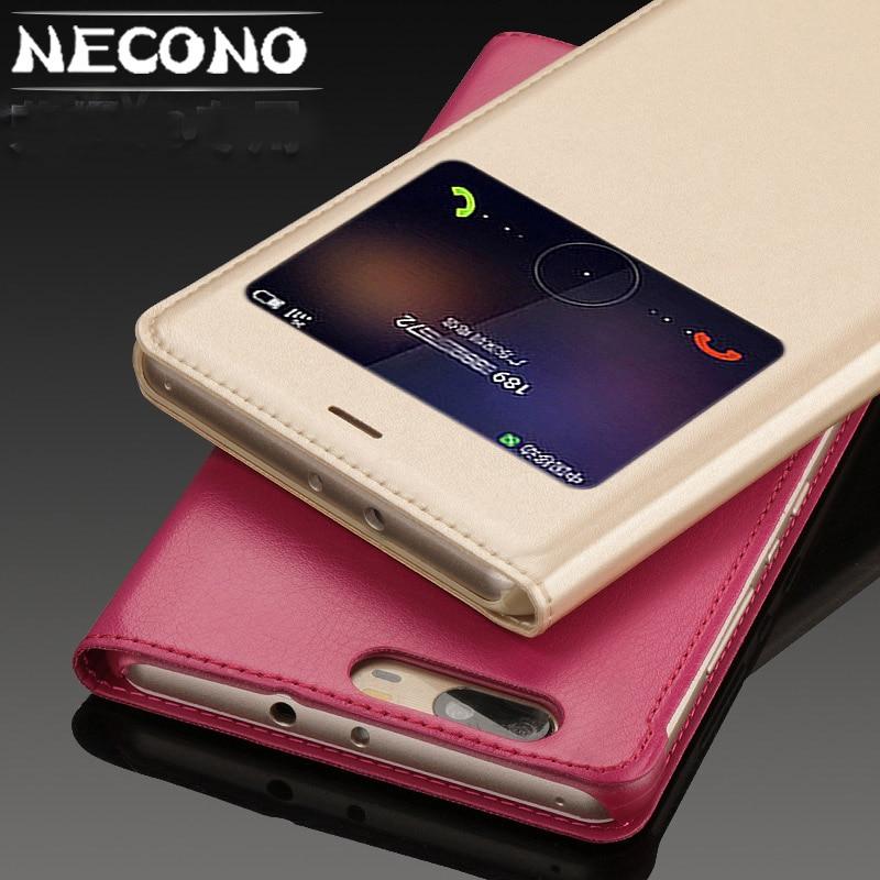 Para huawei honor v8 caso cubierta de cuero caja PC duro caso original huawei honor v8 caja del teléfono de alta calidad
