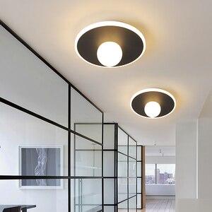 Black/white Modern LED Ceiling Lights Living room lights Bedroom Aisle Balcony light entrance hall entrance Modern Ceiling Lamp