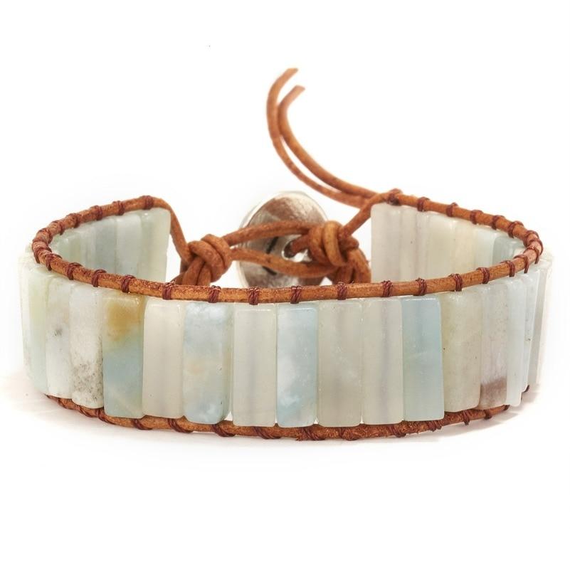 2021 Ретро Браслеты И Браслеты Этнические браслеты из натурального камня, плетеные вручную браслеты для женщин, ювелирные изделия, женские бр...
