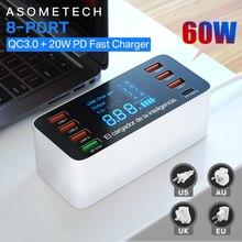 60 Вт Быстрая зарядка QC 3,0 4,0 USB зарядное устройство адаптер USB C зарядное устройство телефон планшет быстрое зарядное устройство для iPhone 12 Pro xiaomi huawei samsung