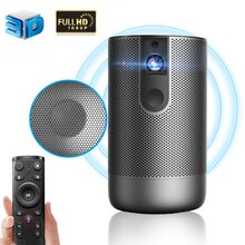 Smart DLP Mini Projector 1920x1080P Full HD Android 7.0 (2G + 16G) 5G WiFi Battery Video Support 4K