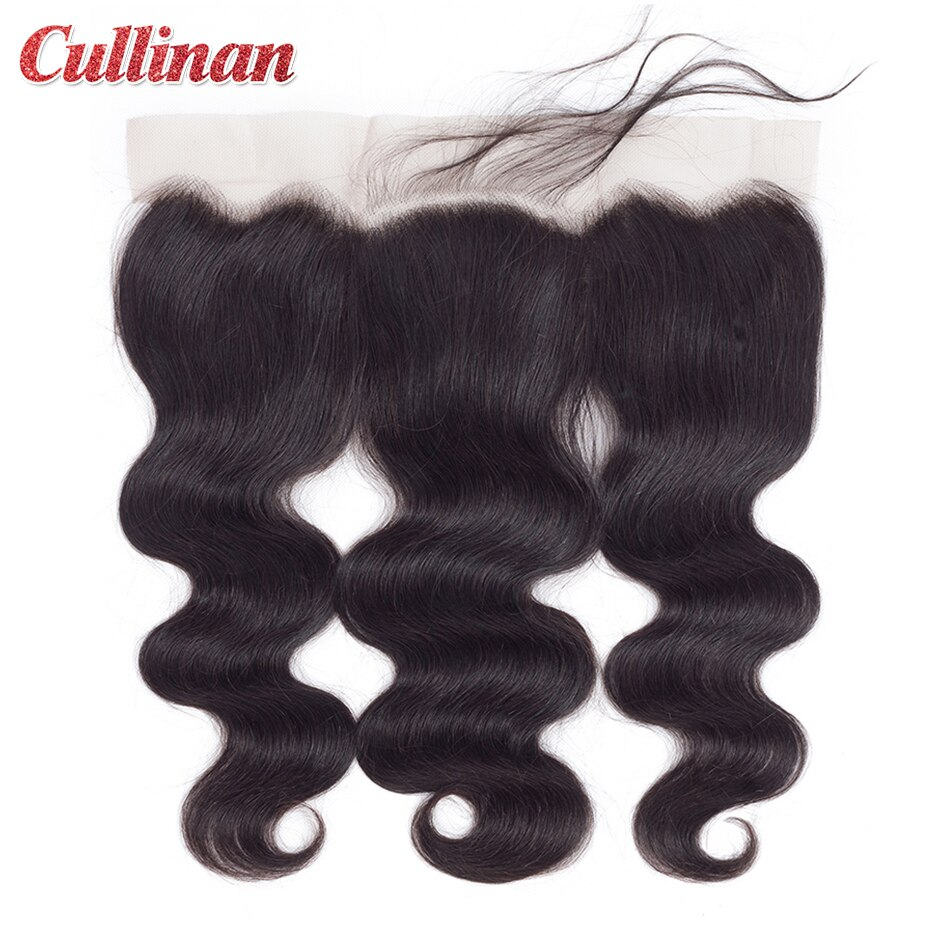 """Body Wave Closure Pre Plucked 13x4 Lace Frontal Peruvian Human Hair Closure With Baby Hair Cullinan Remy Natural Color 8""""-24"""""""