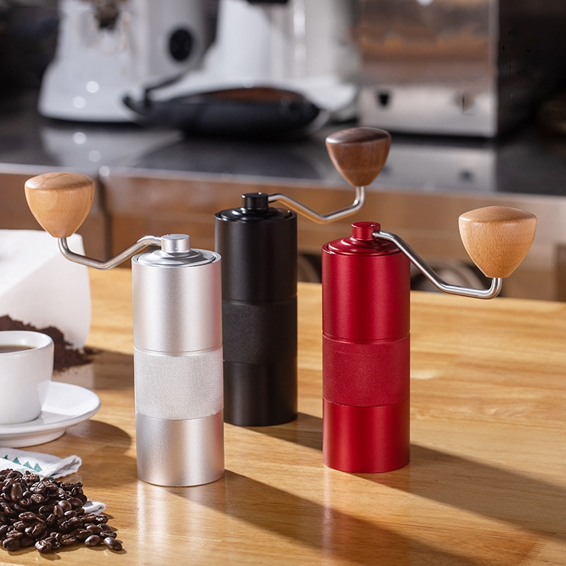 Professional Conical Burr Coffee Grinder Portable Coffee Machine Household Manual Grinder Stainless Steel Grinding Core Tools