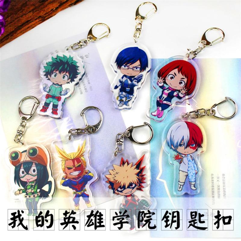 LLavero de My Hero Academia de anime Todoroki Shouto, colgante de llavero kawaii de dibujos animados, regalo de insignia para hombres y mujeres