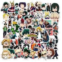 Pegatinas de My Hero Academia para monopatín, pegatinas de personajes de Anime, Izuku Midoriya Might Boku No Hero Academia, 10/50 Uds.