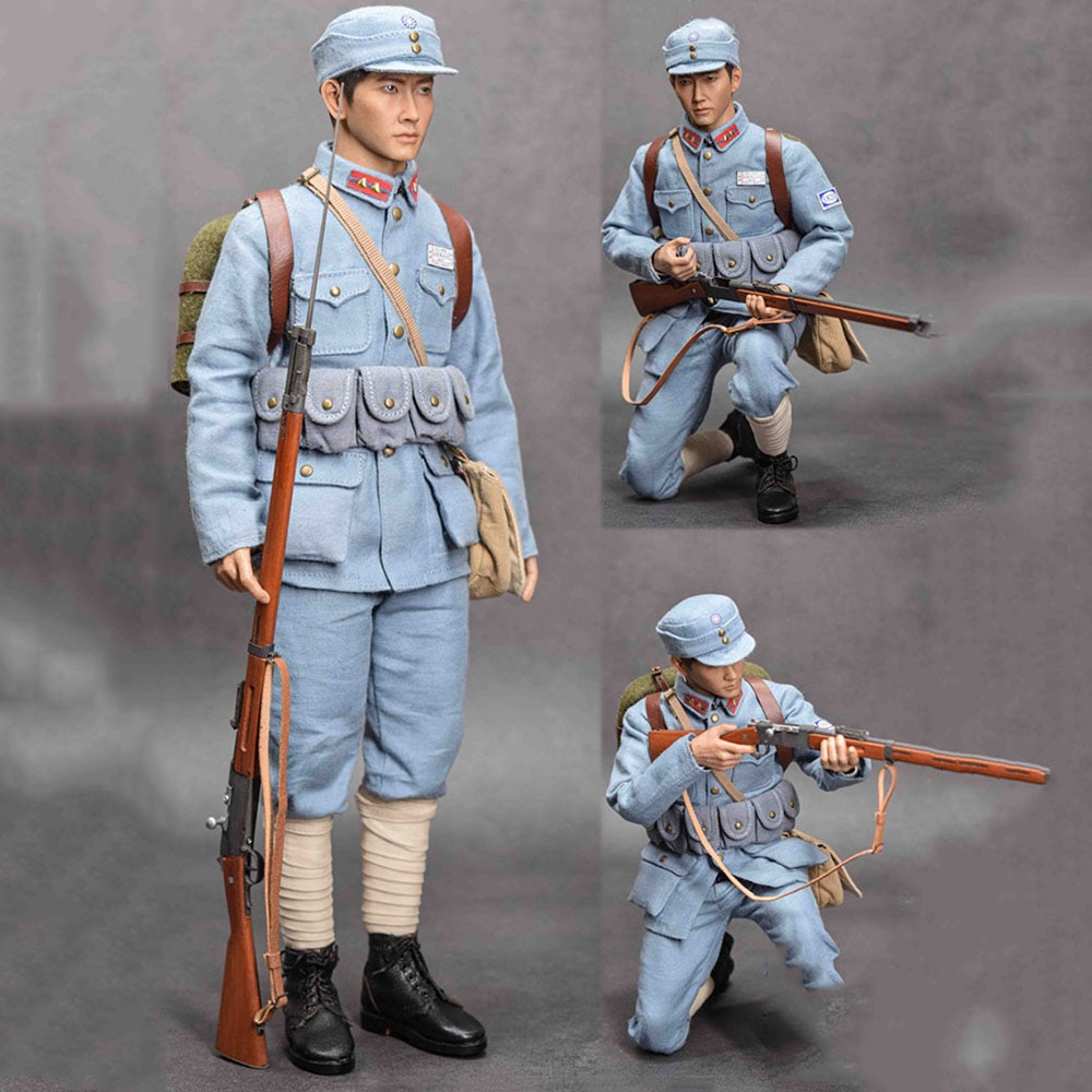 In Stock 1/6 Scale Male Solider QOM-1019 182D In Taierzhuang Clothes Weapon Accessory Model for 12 inches Action Figure Model