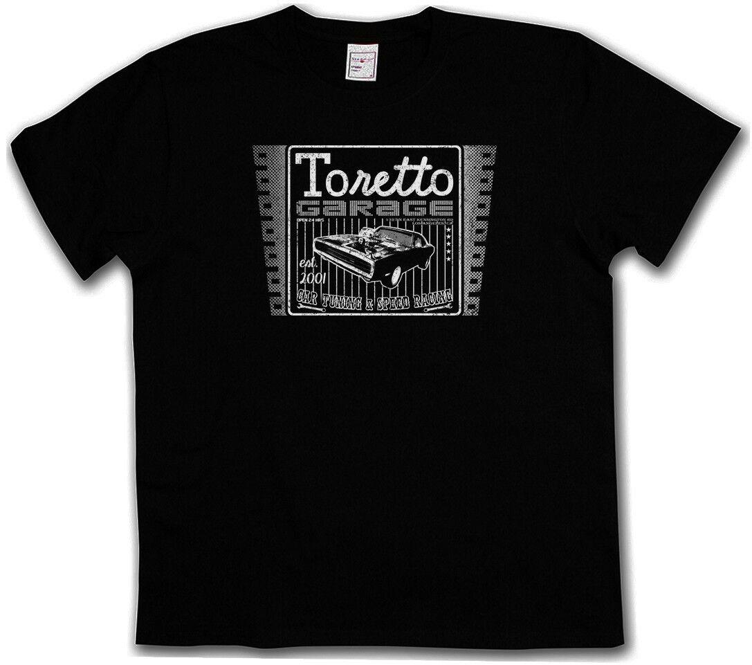 VINTAGE TORETTO garaje LOGO t-shirt-película 2 Fast And The Furious camiseta