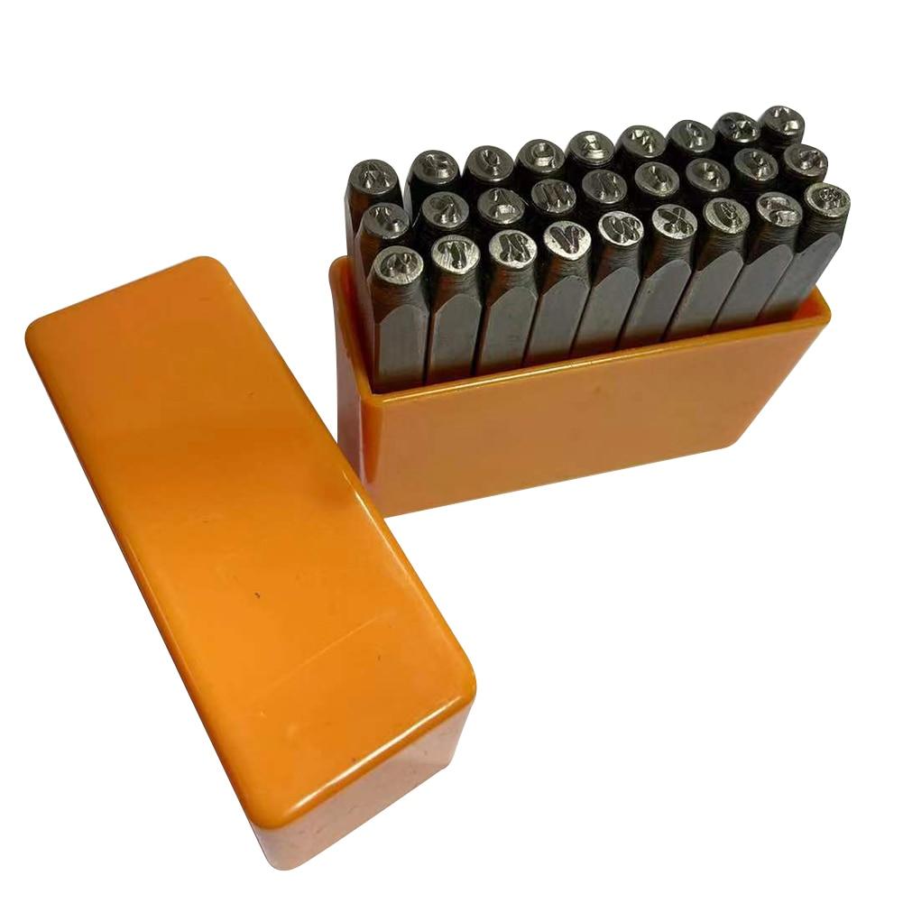 Letras de Metal, sellos de alfabeto, punzones, arte DIY, conjunto de herramientas para Metal, estampado de cuero H99F