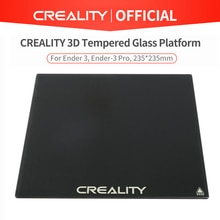Creality 3d vidro temperado plataforma cama aquecida construir superfície apto para Ender-3/Ender-3 pro/Ender-5/Ender-5 pro/CR-20 pro impressora