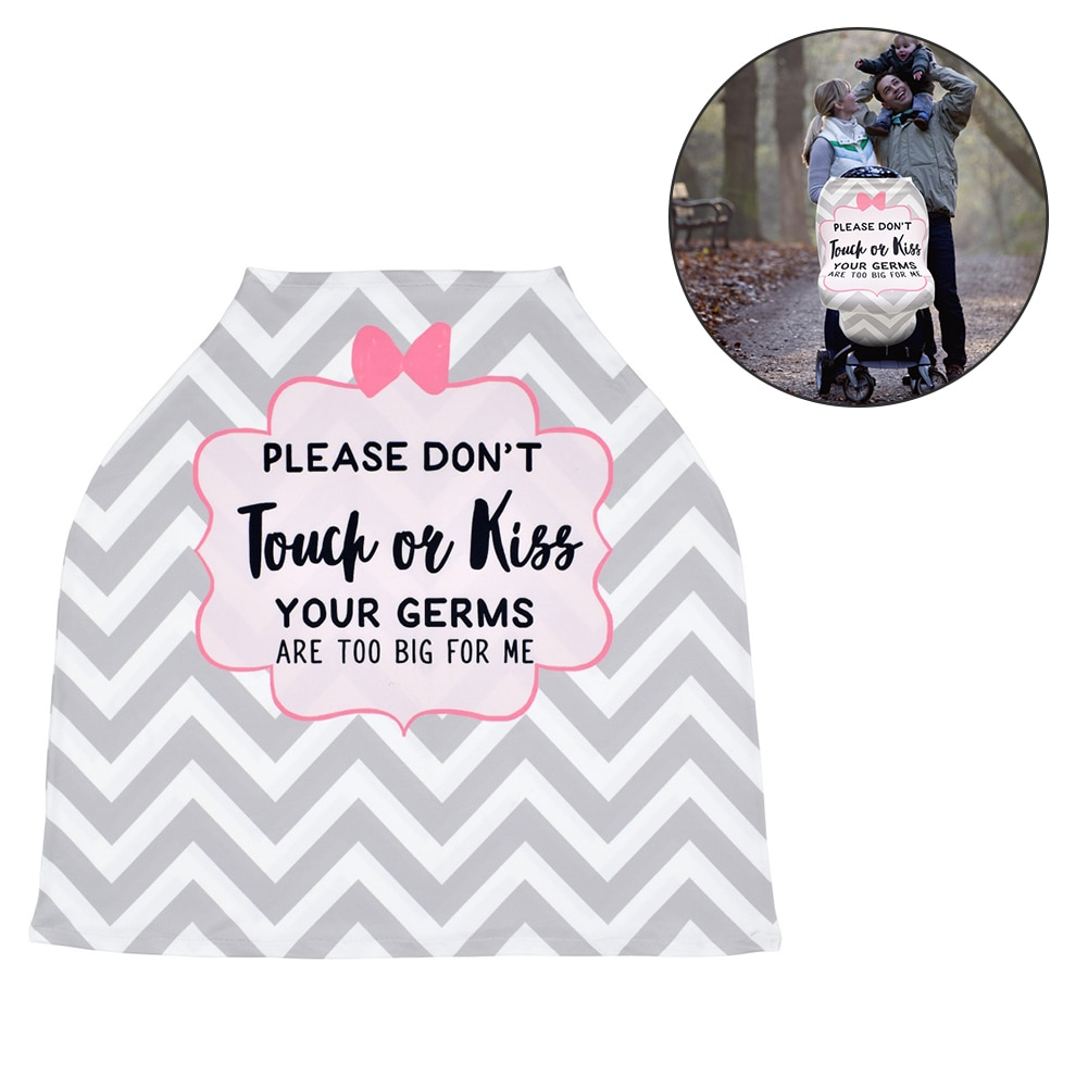 Baby Car Seat Cover with Safety Warning No Touching Sign Nursing Covers for Stroller High Chair Shopping Cart baby stroller high view vip mode baby stroller with safety seat shockproof portable baby cart