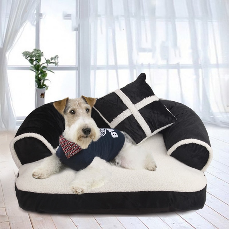 AliExpress - Soft Dog Beds Cat Sofa Best Pet House For Small Medium Dogs Cats Nest Classic England Style Winter Warm Sleeping Bed Puppy Mat