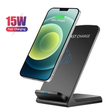 15w Qi Wireless Charger Phone Stand Dock For iPhone 12 Pro Max 11 Pro XS Max XR Samsung Xiaomi Huawe