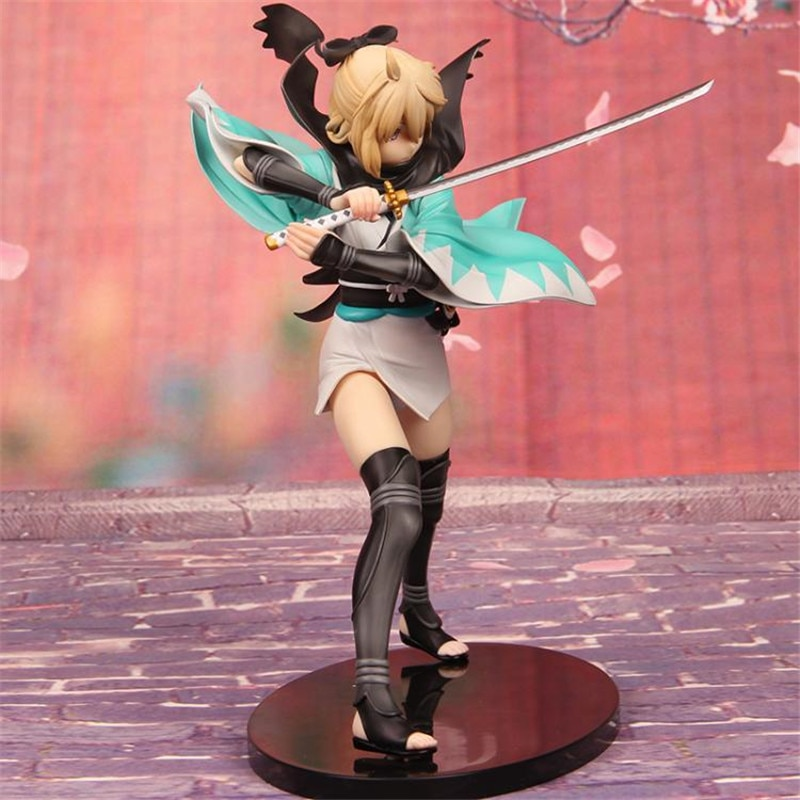 Fate Stay Night Saber Souji Okita sakura Ver. PVC Action Figure Anime Toys Japan Anime Figure Collectible Statue Doll For Gift