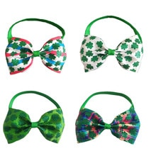 30/50pcs St.Patrick's Pet Supplies Dog Bow Ties Pet Dog Holiday Grooming Accessories Dog Bow Tie Nec