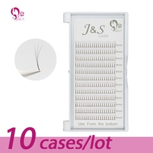 10 plateaux volume W 3D Extension de cils 0.10 cils individuels outils de maquillage professionnels épais cils longs de corée