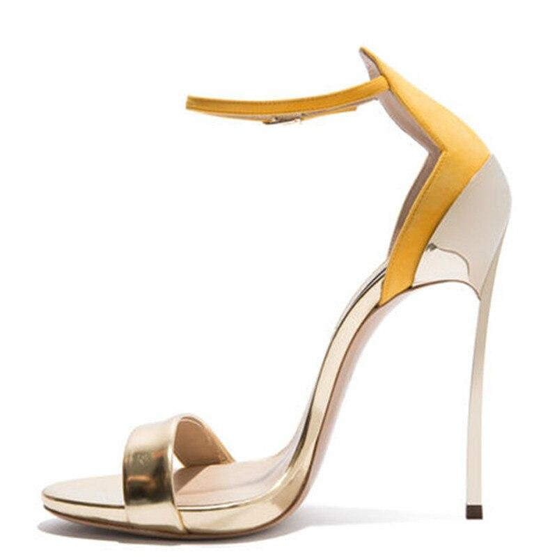 YECHNE Vrouwen Open Teen Hakken Sandalen Mode Hak Hoogte Gladiator Bruids Schoenen Plus Size 33 43 Party Sexy Bruiloft