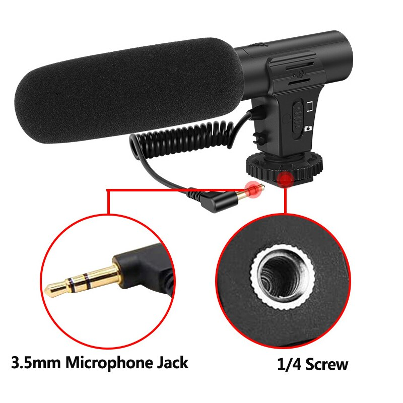 Condenser Microphone With Tripod LED Fill Light For Professional Photo Video Camera Phone For Interview Live Recording YouTube enlarge