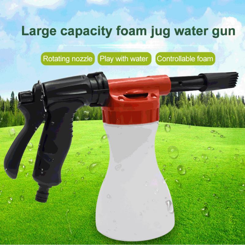 Rociador de espuma para lavado de coches, rociador de espuma para pistola de nieve, para jabón, lavado de jabón, manguera de jardín, ventana, 800ml