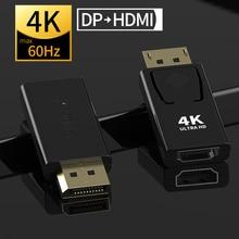Displyport na HDMI max 4K 60Hz hdmi 2.0b Adapter kobiecy męski dp do HDMI konwerter 2K wideo złącze audio wtyczka MOSHOU
