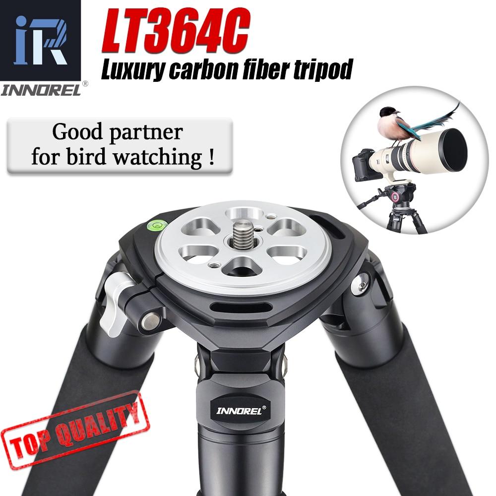 LT364C الفاخرة 10 طبقات ألياف الكربون ترايبود للكاميرا المهنية الطيور السائل رئيس لكانون نيكون سوني DSLR 36 مللي متر أنبوب
