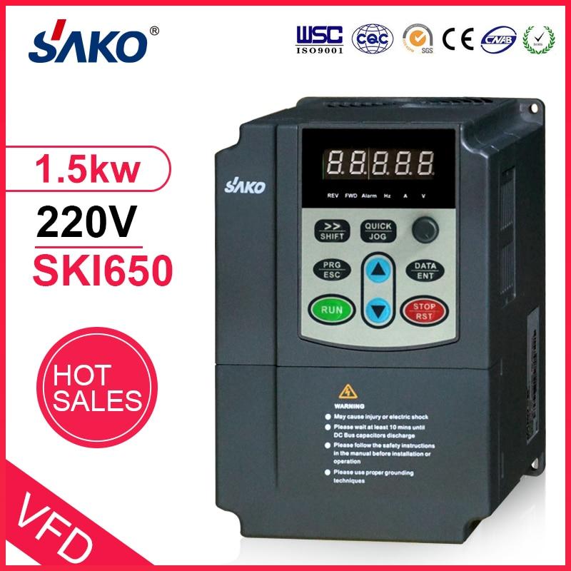 Sako 220V 1.5KW ENTRADA DE CC Solar fotovoltaica comprimido inversor de la bomba de agua convertidor de DC a DC de salida AC 3 Fase