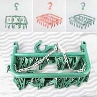 32 drying clips folding clothes dryer hanger children adults clothes dryer windproof sock underwear plastic clothes hanger dryer