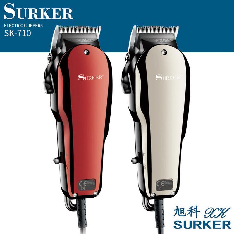 Surker SK-710 retro cabeça de óleo clipper barbeador elétrico aparador barba portátil mini máquina corte cabelo navalha com 4 pentes da ue