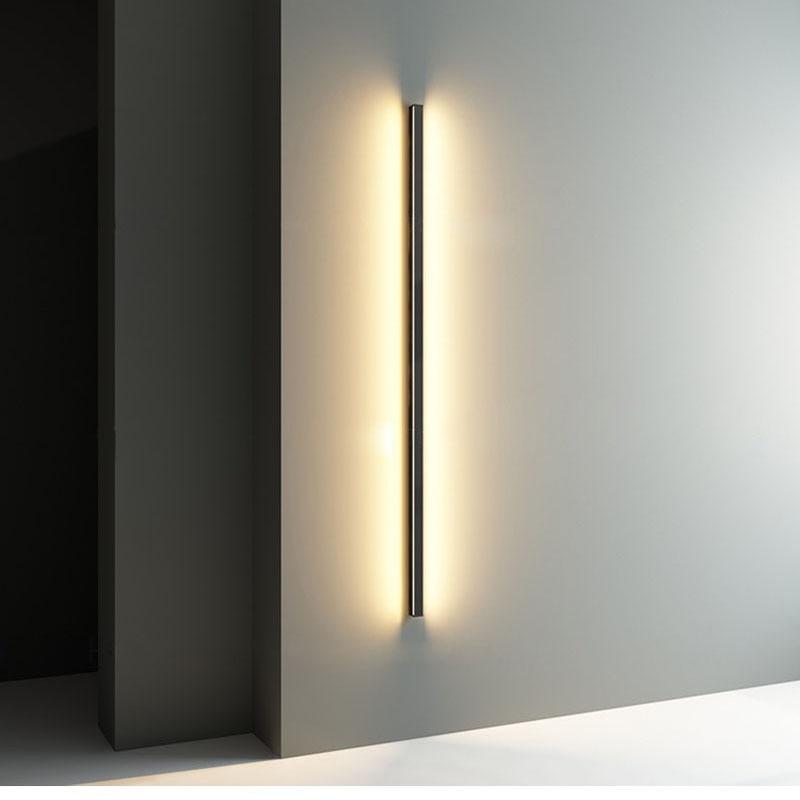 Lámpara de pared larga creativa minimalista, lámpara de pared moderna, lámpara de pared para sala de estar, lámpara de pared de aluminio, candelabro de iluminación