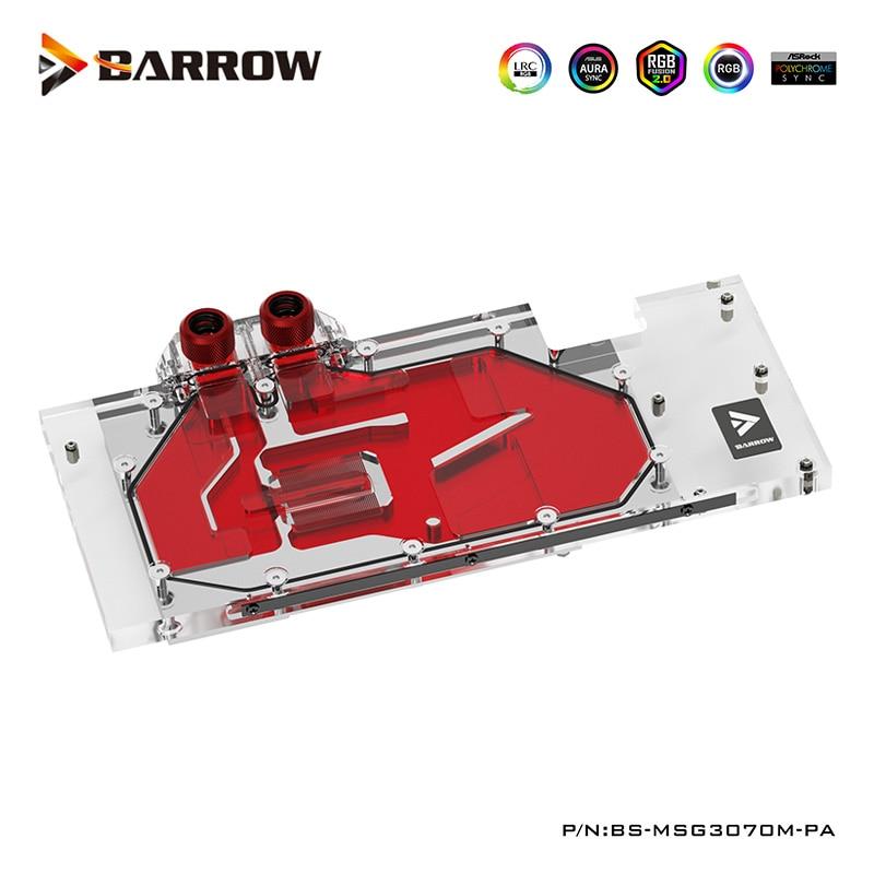 بارو GPU كتلة المياه ل MSI RTX 3070 الألعاب/SUPRIM X الثلاثي ، 5V ضوء ، دعم جبل الأصلي عودة لوحة ، BS-MSG3070M-PA